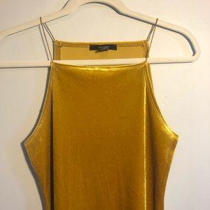 Forever 21 Gold Velvet Dress sz M